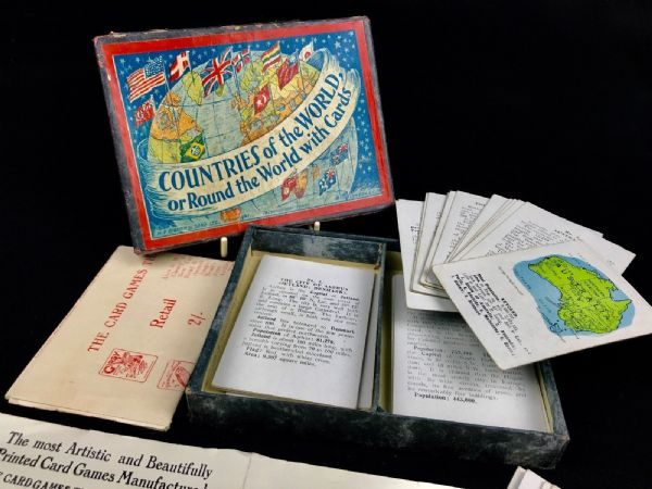 Vintage H P Gibson & Sons Countries Of The World Playing Card Game Complete